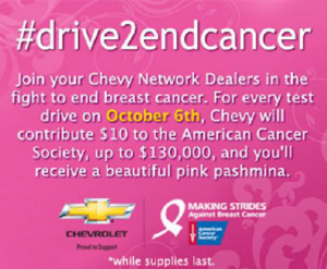 Chevy Drive to End Breast Cancer